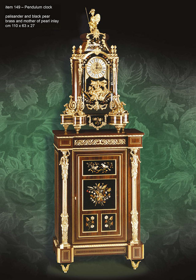 Cabinet and pendulum clocks